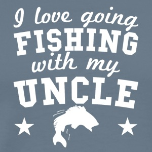 I Love Going Fishing With My Uncle - Men's Premium T-Shirt