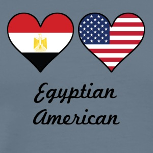 Egyptian American Flag Hearts - Men's Premium T-Shirt