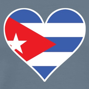 Cuban Flag Heart - Men's Premium T-Shirt