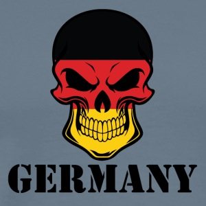 German Flag Skull Germany - Men's Premium T-Shirt