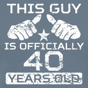 This Guy Is Officially 40 Years Old - Men's Premium T-Shirt