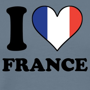 I Love France French Flag Heart - Men's Premium T-Shirt