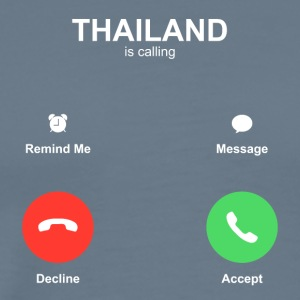 thailand call Accept Decline - Men's Premium T-Shirt