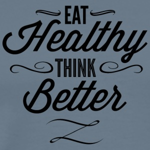 eat_healthy_Think_better - Men's Premium T-Shirt