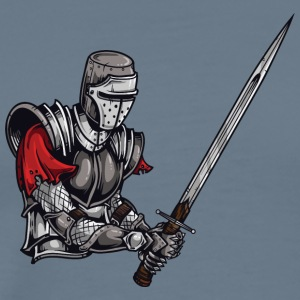 KNIGHT BATTLE WITH LONG SWORD - Men's Premium T-Shirt