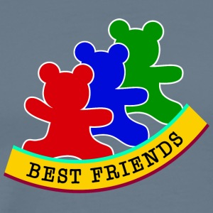 best friends / friends - Men's Premium T-Shirt