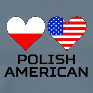Polish American Hearts - Men's Premium T-Shirt