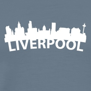 Arc Skyline Of Liverpool England - Men's Premium T-Shirt