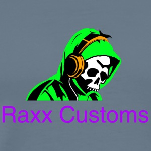 SKULL RAXX CUSTOMS logo green - Men's Premium T-Shirt