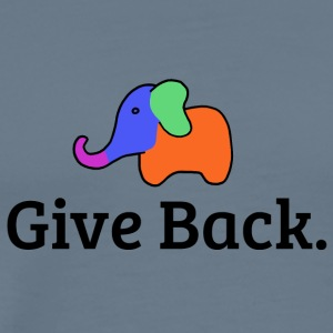 Give Back elephant - Men's Premium T-Shirt