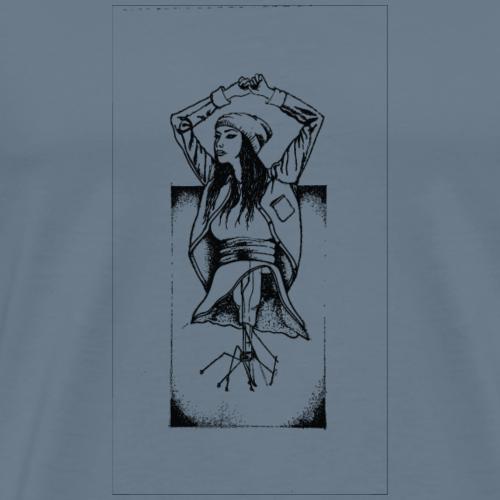 Abstract Graphic Lightbulb Skirt Girl - Men's Premium T-Shirt