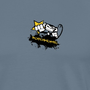 monkey_punch_no_bg_yellow_fill_my_edit - Men's Premium T-Shirt
