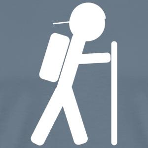 Hiker Backwards Hat - Men's Premium T-Shirt