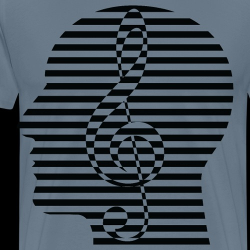 Treble Clef Cranium - Men's Premium T-Shirt