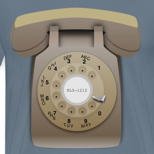 Rotary phone (beige) - Men's Premium T-Shirt