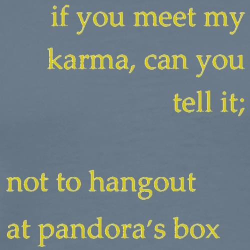 meet karma - Men's Premium T-Shirt