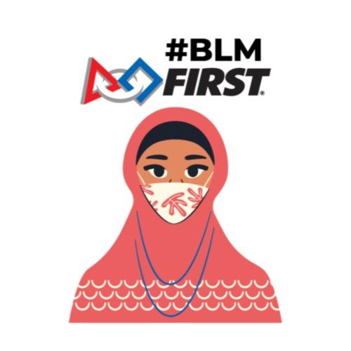 #BLM FIRST Muslim Woman BLM Supporter - Men's Premium T-Shirt