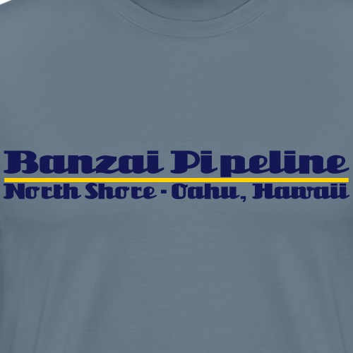 Banzai Pipeline North Shore Oahu, Hawaii - Men's Premium T-Shirt