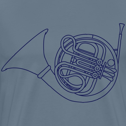 French horn brass - Men's Premium T-Shirt