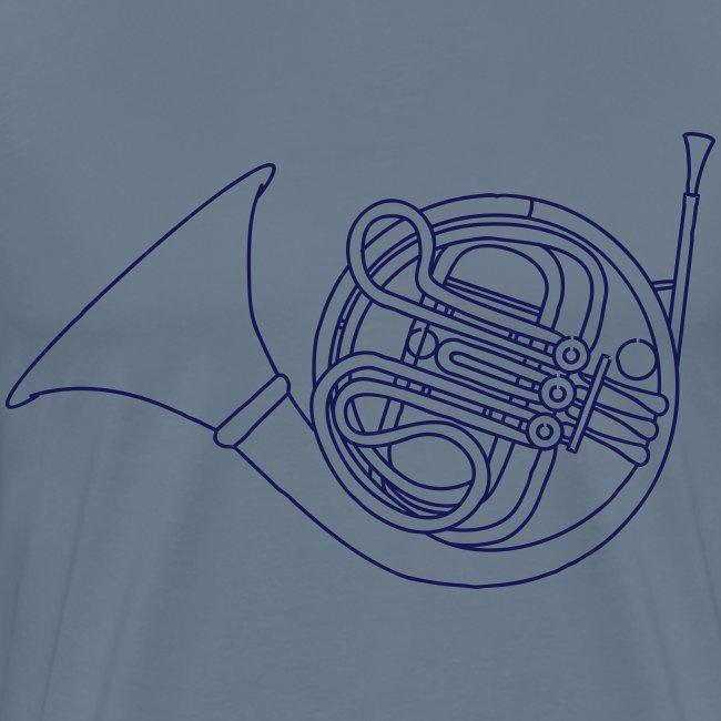 French horn brass