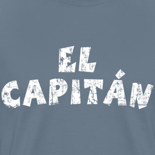 El Capitán (Vintage White) Captain Boat & Ship - Men's Premium T-Shirt