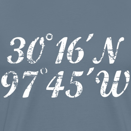 Austin Coordinates (Vintage White) - Men's Premium T-Shirt