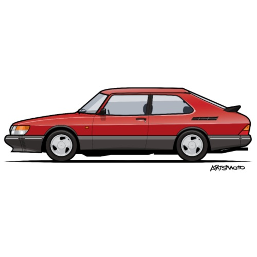 Saab 900 Turbo Red - Men's Premium T-Shirt