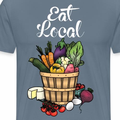 Eat Local- White - Men's Premium T-Shirt