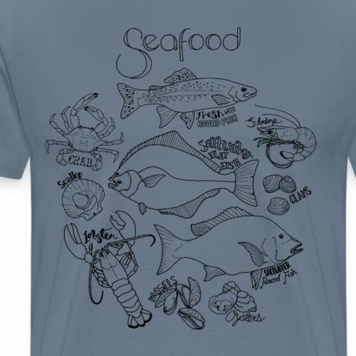 Seafood- Black - Men's Premium T-Shirt