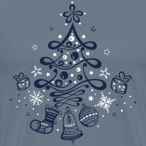 Cute Christmas Tree with Gifts - Men's Premium T-Shirt