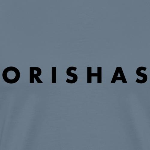 Orishas (Slim Black Letters) - Men's Premium T-Shirt