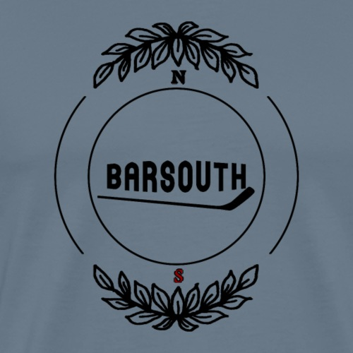 barsouth_circle_leaves_theme - Men's Premium T-Shirt