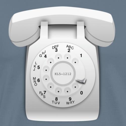 Rotary phone (white) - Men's Premium T-Shirt