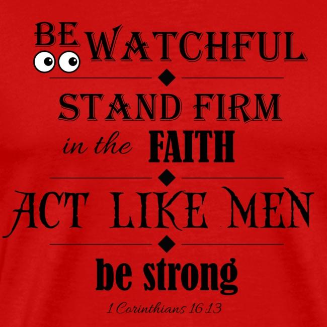 1 Corinthians 16:13