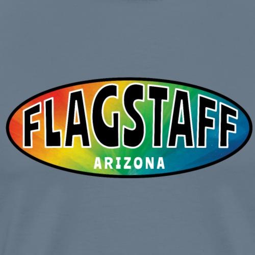 FLAGSTAFF ARIZONA Rainbow Oval - Men's Premium T-Shirt
