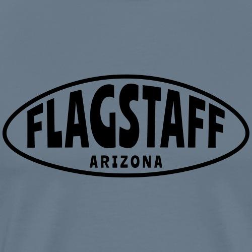 FLAGSTAFF ARIZONA oval - Men's Premium T-Shirt