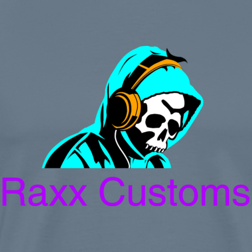 SKULL RAXX CUSTOMS logo turqoise - Men's Premium T-Shirt