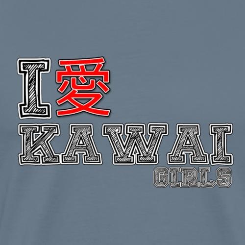 I love Kawai Girls - Men's Premium T-Shirt