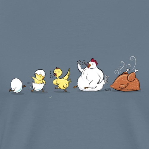 Evolution Of Chicken - Men's Premium T-Shirt