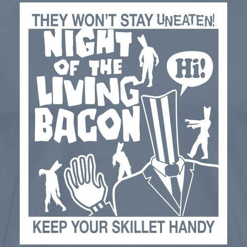 night of living bacon2 - Men's Premium T-Shirt