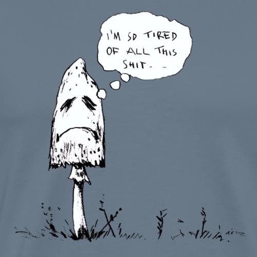 depressed mushroom / fungi fun - Men's Premium T-Shirt