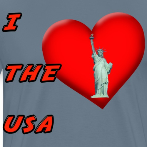 I Heart the USA - Men's Premium T-Shirt