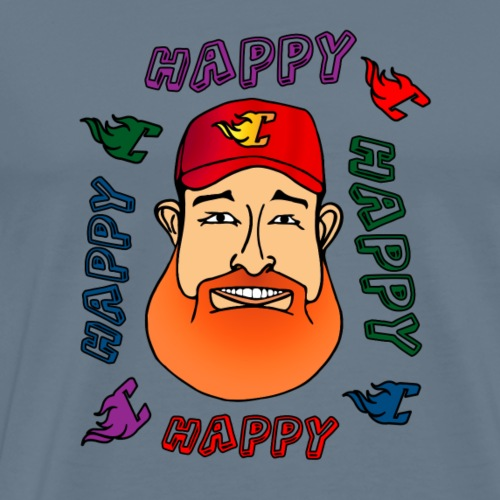 Flaming C Happy - Men's Premium T-Shirt