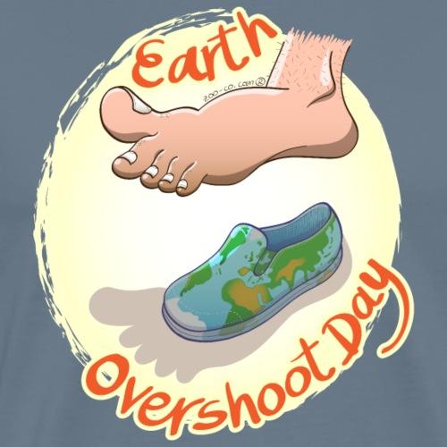 Oversized Footprint Earth Overshoot Day - Men's Premium T-Shirt