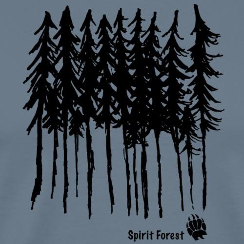 Black Designed Trees - Men's Premium T-Shirt