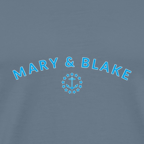 Mary And Blake Teal Logo Rounded - Men's Premium T-Shirt