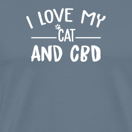 i love my cat and - Men's Premium T-Shirt