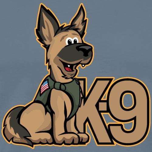 K-9 Dog Cartoon Illustration - Men's Premium T-Shirt