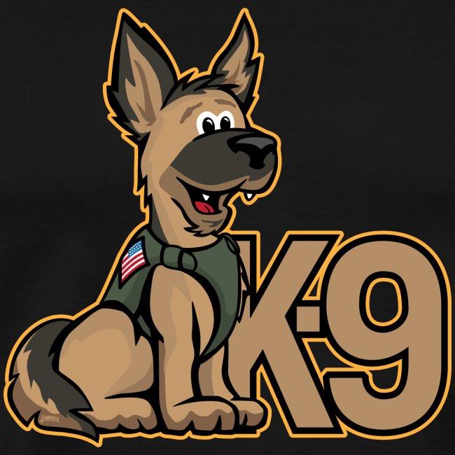 K-9 Dog Cartoon Illustration