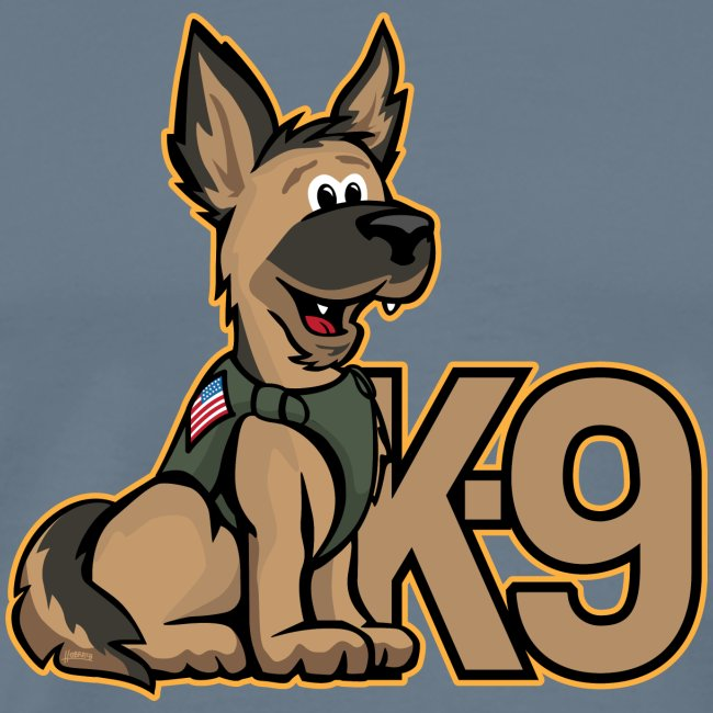 K-9 Dog Cartoon Illustration